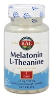 Kal - Melatonin L-Theanine Vanilla - 30 Tablets