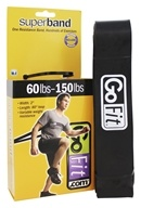 GoFit - Super Band 60-150 lbs. Black -