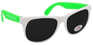 LuckyVitamin Gear - Spread the Wellness Sunglasses One Size Adult White & Green - 1 Pair