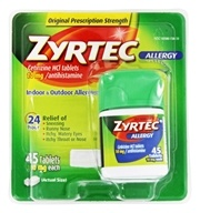 Zyrtec - Allergy 24 Hour Antihistamine - 45