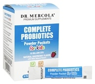 Dr. Mercola Premium Supplements - Complete Probiotics Powder Packets for Kids Natural Raspberry Flavor - 30 Packet(s)
