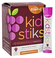 American Health - Ester C Kidstiks Multivitamin & Mineral Groovy Grape - 30 Packet(s)