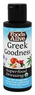 Foods Alive - Organic Superfood Dressing Greek Goodness
