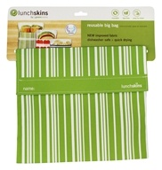 LunchSkins - Reusable Big Bag Green Vertical Stripe