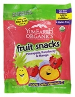 Yum Earth - Organic Fruit Snacks Pineapple, Raspberry