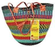 Handwoven Shoulder African Basket