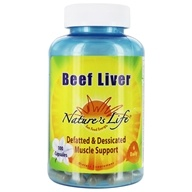 Nature's Life - Beef Liver - 100 Capsules