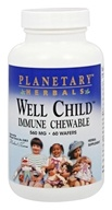 Planetary Herbals - Well Child Immune Chewable 560 mg. - 60 Wafers