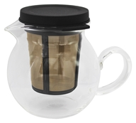 Glass Tea Pitcher with Infuser Basket