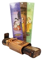 Bamboo Incense Burner with Storage + 3 Harmony Incense Packs Thank You!