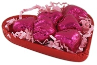 Organic Half Foil Heart with Hearts of Cherry