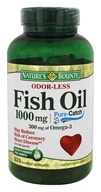 Nature's Bounty - Odor-Less Fish Oil 1000 mg.
