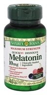 Nature's Bounty - Maximum Strength Melatonin 10 mg.