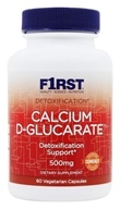 F1rst Nutrition - Calcium D-Glucarate Detoxification Support 500