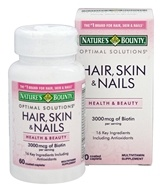 Nature's Bounty - Optimal Solutions Hair Skin and Nails - 60 Caplets