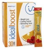 IdealShape - IdealBoost Drink Mix Stick Packs Raspberry