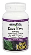 Natural Factors - Stress-Relax Kava Kava 400 mg. - 60 Vegetarian Capsules