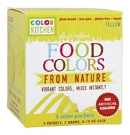 ColorKitchen - Decorative Food Colors From Nature Yellow