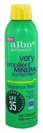 Alba Botanica - Very Emollient Mineral Sunscreen Fragrance