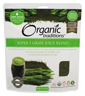 Organic Traditions - Super 5 Grass Juice Blend