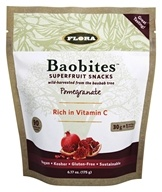 Flora - Baobites Superfruit Snacks Pomegranate - 6.17