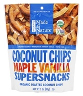 Made in Nature - Organic Toasted Coconut Chips Maple Madagascar Vanilla - 3 oz.