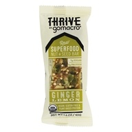 GoMacro - Organic Thrive Bar Ginger Lemon -