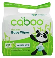 Caboo - Bamboo Baby Wipes Value Pack -