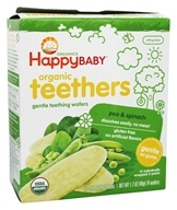 HappyFamily - HappyBaby Organic Teethers Pea and Spinach