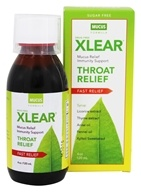 Xlear - Throat Relief Syrup Mucus Formula - 4 oz.