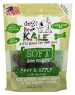 Dogs Love Kale - Soft Dog Treats Beef and Apple with Moringa - 4 oz.