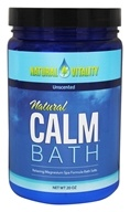 Natural Vitality - Natural Calm Bath Unscented - 20 oz.