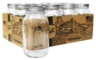 Ball - Smooth Sided Regular Mouth Quart Mason Jars - 12 Count
