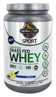 Garden of Life - Sport Certified Grass Fed Whey Vanilla - 23 oz.