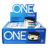 ONE Protein Bar Cookies & Creme - 12 Bars Formerly OhYeah! One Bar