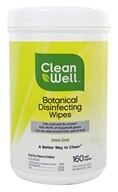 CleanWell - Botanical Disinfecting Wipes Lemon Scent - 160 Wipe(s)
