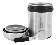 Thinksport - Insulated Food Container with Spork Silver - 17 oz.