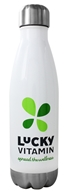 LuckyVitamin Gear - Insulated Vaccum Stainless Steel Water Bottle White - 17 oz.