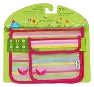 Green Sprouts - Reusable Snack Bags Pink -
