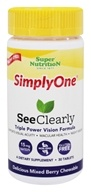 Simply One See Clearly Triple Power Vision Formula Delicious Mixed Berry - 30 Chewable Tablets