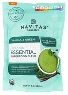 Navitas Organics - Organic Essential Superfood Blend Powder Vanilla & Greens - 8.4 oz.
