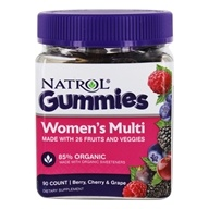 DROPPED: Women's Multi Gummies 85% Organic Berry, Cherry & Grape - 90 Gummies