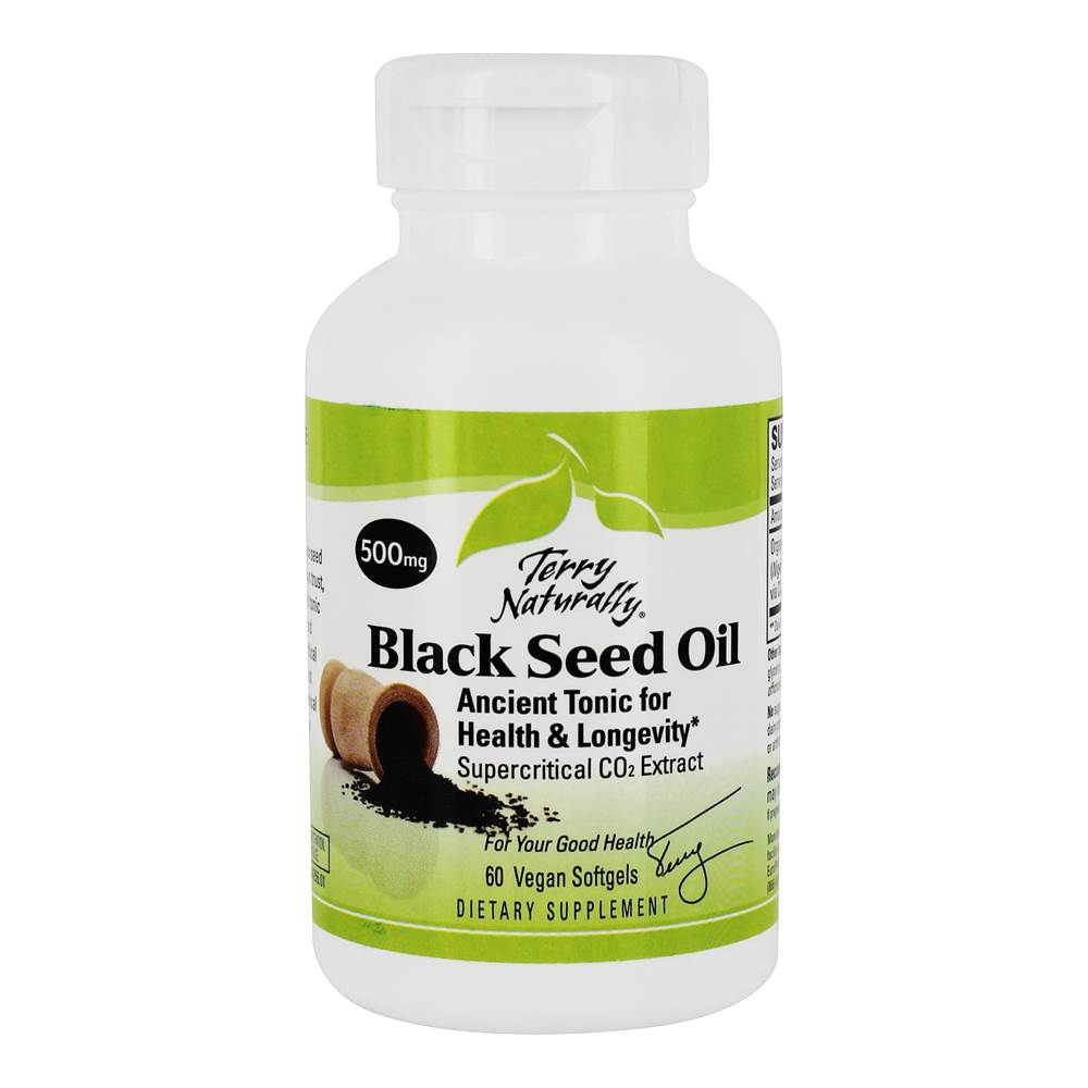 Terry Naturally Black Seed Oil 500 mg. - 60 Vegan Softgel(s)