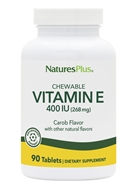 Nature's Plus - Vitamin E Natural Carob Flavored