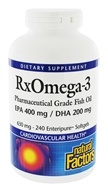 RxOmega-3 Factors Pharmaceutical Grade EPA 400 mg/DHA 200 mg