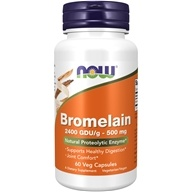 NOW Foods - Bromelain 2400 GDU/g 500 mg.