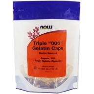 NOW Foods - Gelatin Empty Capsules Triple '000'