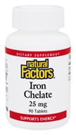Natural Factors - Iron Chelate 25 mg. -