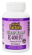 Natural Factors - Clear Base Vitamin E 400