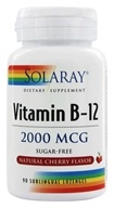 Solaray - Vitamin B-12 Sugar Free Natural Cherry